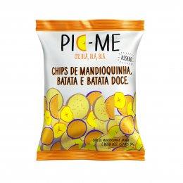 Chips Assado Mandioquinha Batata Doce e Batata 34g - Pic-me