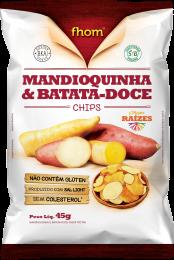 Chips Batata Doce e Mandioquinha 45g - Fhom