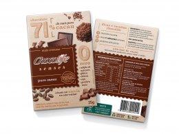 Chocolife Senses 71% Puro Cacau 25g - Chocolife