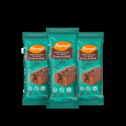 Combo Bolinho Integral Chocolate Recheio de Avelã Flormel (3 unidades)