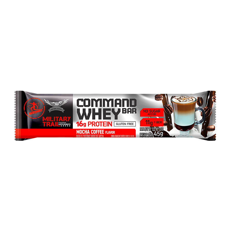 Command Whey Bar (Unidade-45g) Military Trail -Mocha