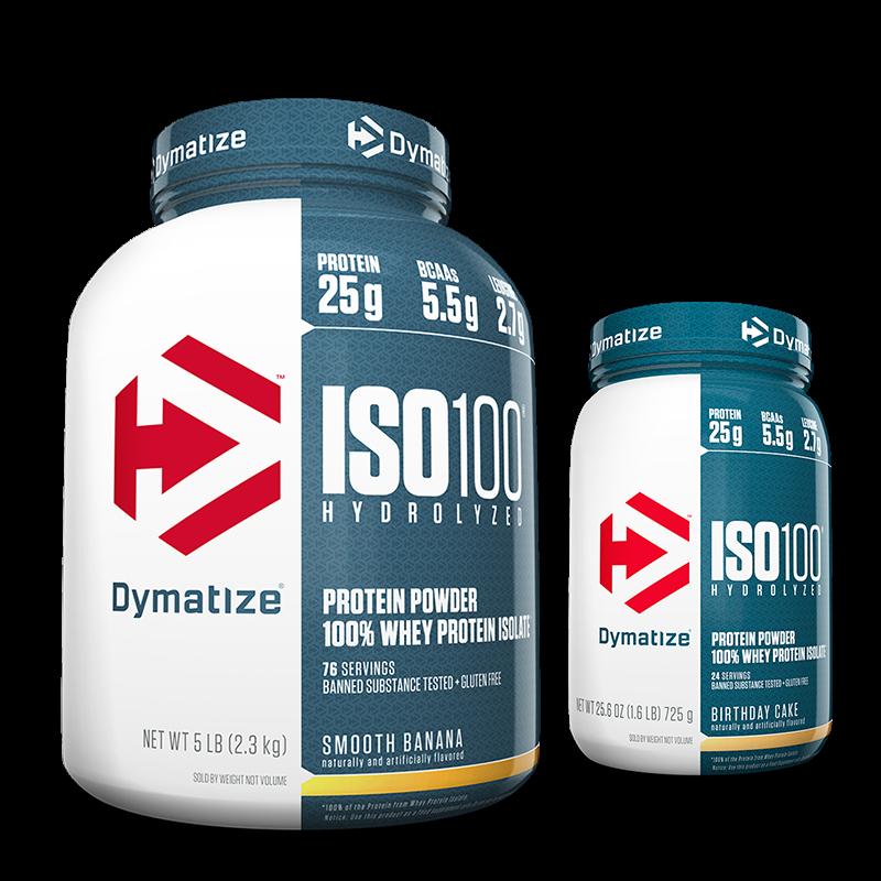 ISO 100 - 100% Hidrolyzed (2258g) Dymatize + ISO 100 - 100% Hidrolyzed (1.6lb/726g) Dymatize Grátis