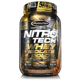 NitroTech 100% Whey Gold Isolate (907g) MuscleTech-Baunilha