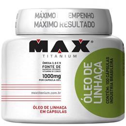 Óleo de Linhaça (1000mg/100caps) Max Titanium