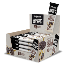 Best Whey Chocolate Proteico (12unid-50g) Atlhetica Nutrition-Crunchy'n Cream