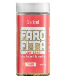Farofita Low Carb Sabor Pimenta 220g - Snackout