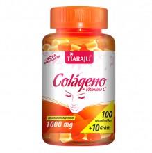 Colágeno Hidrolisado com Vitamina C (600mg) (100comp + 10 Grátis) - Tiaraju