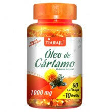 Óleo de Cártamo 1000mg (60caps + 10 Grátis) - Tiaraju