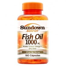 Fish Oil 1000mg - Óleo de Peixe (180caps) - Sundown