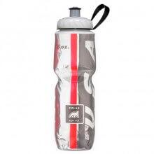 Garrafa Térmica USA Preta e Vermelha (710ml) - Polar Bottle