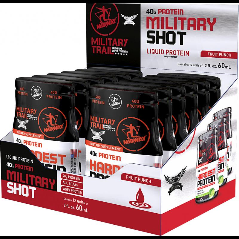 Hardest Protein Liquid (12x60ml) Military Trail-Limão