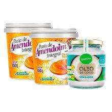 Kit 2 Pasta de Amendoim (450g) + Óleo de Coco Sem Sabor (200ml)