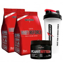 Kit 2 Super Whey Reforce Saco (907g) + Peanut Butter Whey (300g) + BRINDE - Integralmédica
