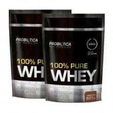 Kit 2x 100% Pure Whey Protein - Saco (825g) (Total: 1,65kg) - Probiótica