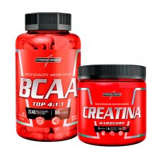 Kit BCAA Top 4:1:1 (120caps) + Creatina Bodysize (150g) - Integralmédica