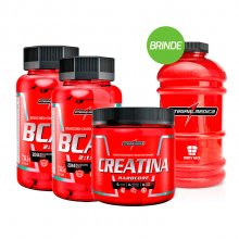 Kit com 2 BCAA 2:1:1 2044mg (90caps) + Creatina (150g) - Integralmédica + BRINDE