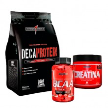 Kit Deca Protein (1kg) + BCAA Top 4:1:1 (120caps) + Creatina (150g) - Integralmédica