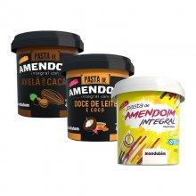 Imagem - Kit Degustação com 3 Pastas de Amendoim - Mandubim