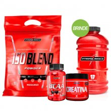 Kit Iso Blend (907g) + BCAA 2:1:1 (90caps) + Creatina (150g) - Integralmédica + BRINDE
