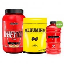 Kit Super Whey 100% (907g) + Albumina Naturovos (500g) + BRINDE