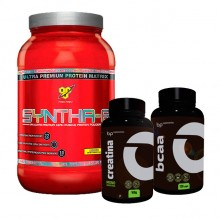 Kit Syntha-6 (1080g) BSN + BCAA BP (120caps) + Creatina BP (100g)