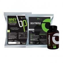 Kit Whey Protein (1kg) + Dextrose (1kg) + Creatina (100g) - BP Suplementos