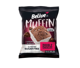 Muffin Double Chocolate Zero 40g - Belive