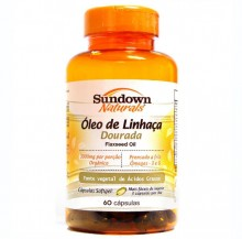 Óleo de Linhaça Dourada (Flaxseed Oil) 1000mg  (60caps) - Sundown