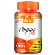 Phynus (Quitosana, Fibra de Laranja e Psyllium) 530mg (150caps + 10 Grátis) - Tiaraju