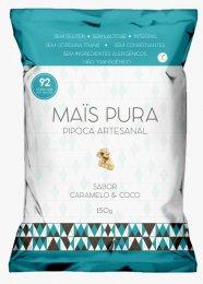 Imagem - Pipoca Artesanal Caramelo e Coco 150g - Mais Pura