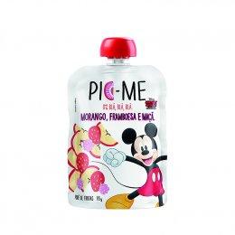 Purê de Frutas Disney Morango Framboesa e Maça 100g - Pic Me