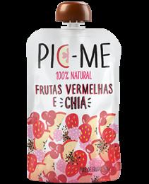 Purê de Frutas Vermelhas com Chia 100g - Pic Me