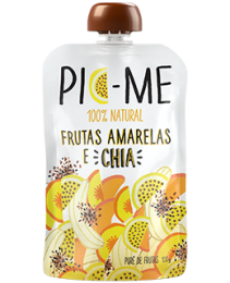 Purê Frutas Amarelas com Chia 100g - Pic Me