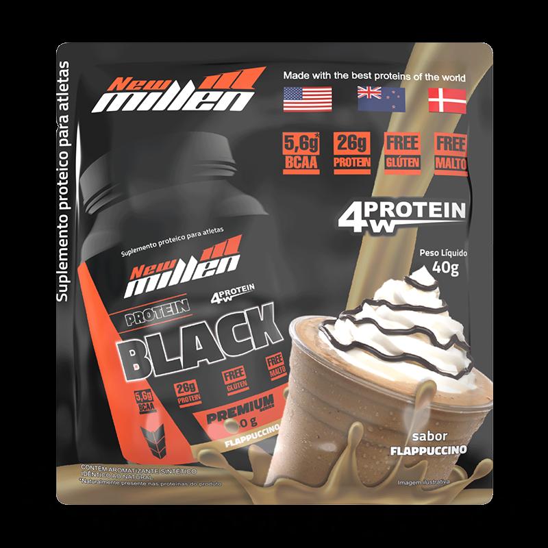 Protein Black 4W (21 Sachês de 40g) New Millen-Flappuccino