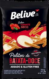 Snack de Batata Doce Sabor Tomate Seco 35g - Belive