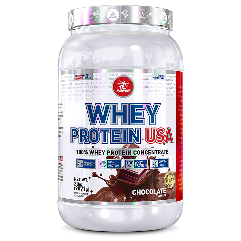 Whey USA 100% (907g) Midway-Chocolate