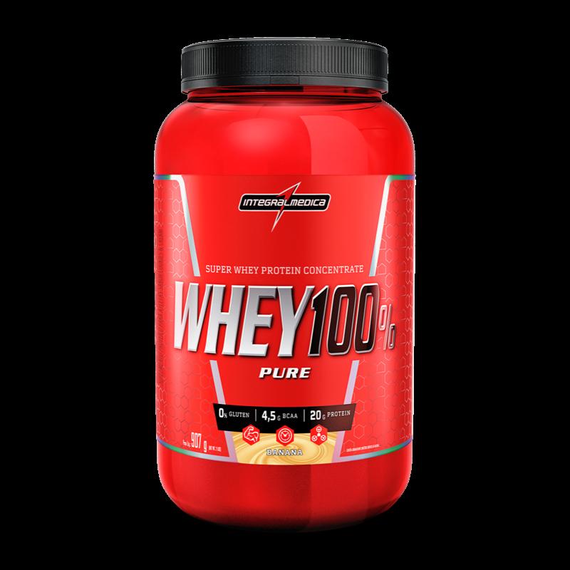 Super Whey 100% Pure (907g-Pote) IntegralMedica-Baunilha