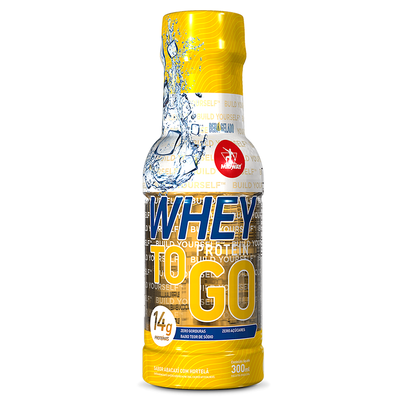 Whey TO GO (300ml) Midway -Abacaxi com Hortelã