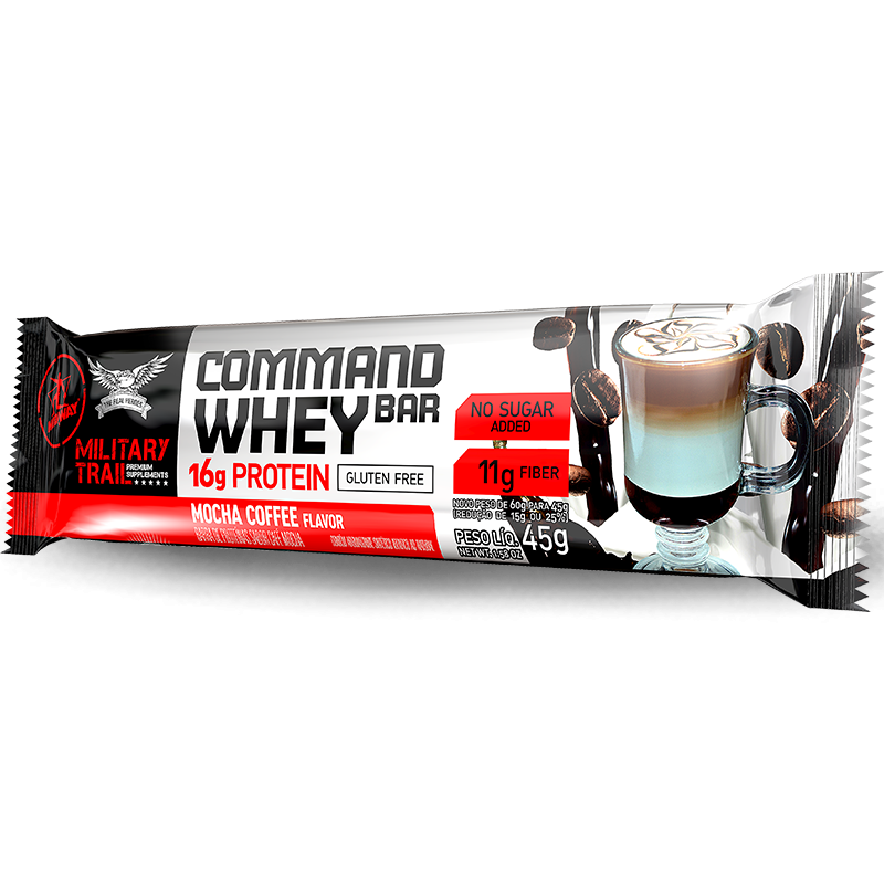 Command Whey Bar (12unid-45g) Military Trail -Cookies & Cream
