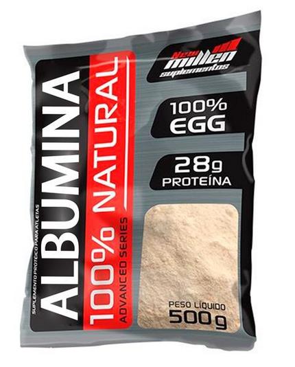 Albumina 100% Natural (500g) New Millen