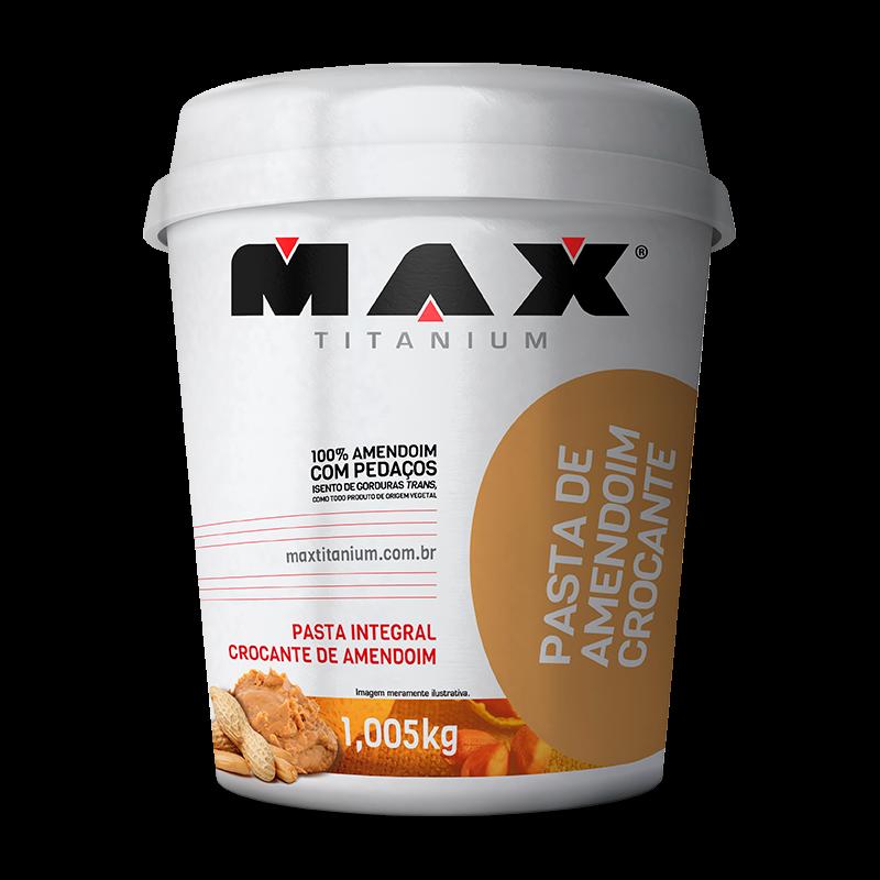 Pasta de Amendoim Crocante (1kg) Max Titanium