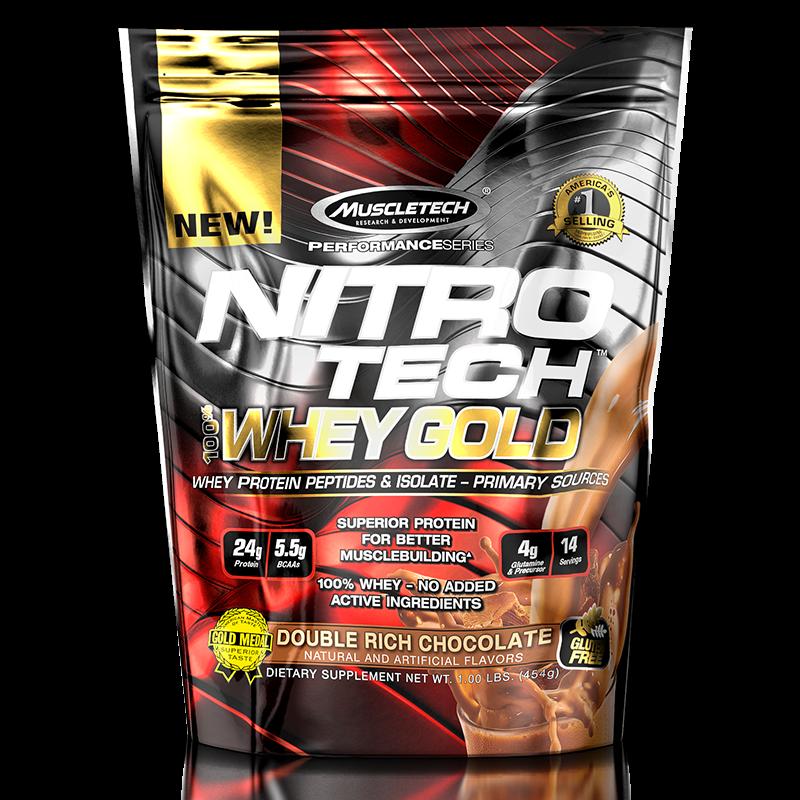 Nitro Tech 100% Whey Gold (454g) MuscleTech -French Vanilla Creme