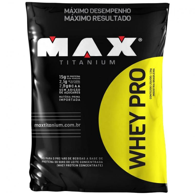Whey Pro Refil (1 5kg) Max Titanium