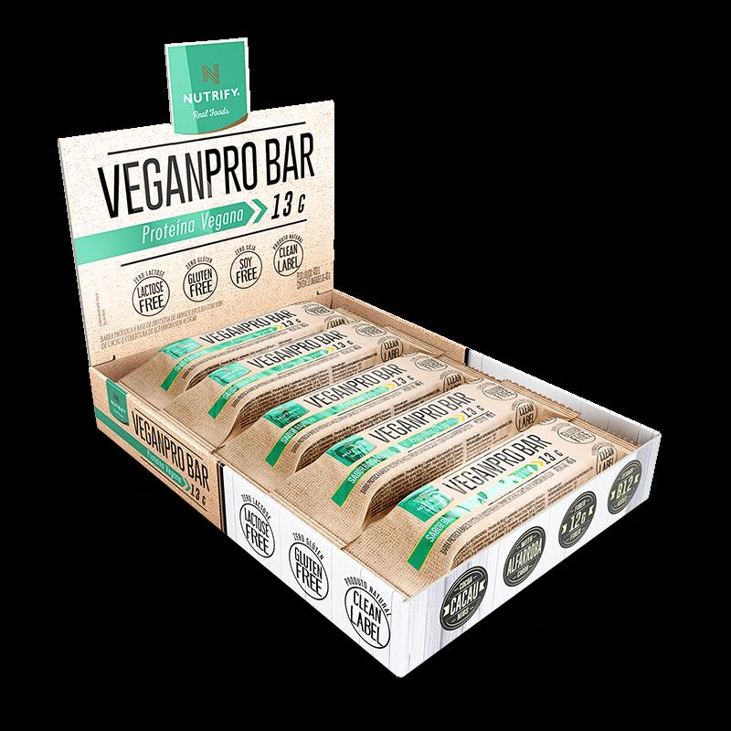 VeganPro Bar (10unid-40g) Nutrify-Baunilha