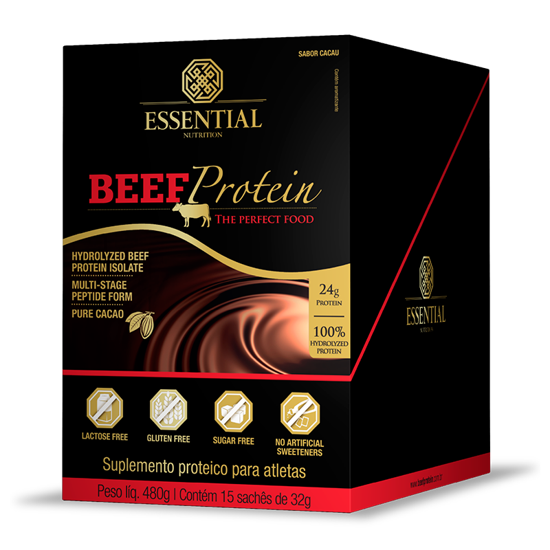 Beef Protein (15 sachês-32g) Essential Nutrition