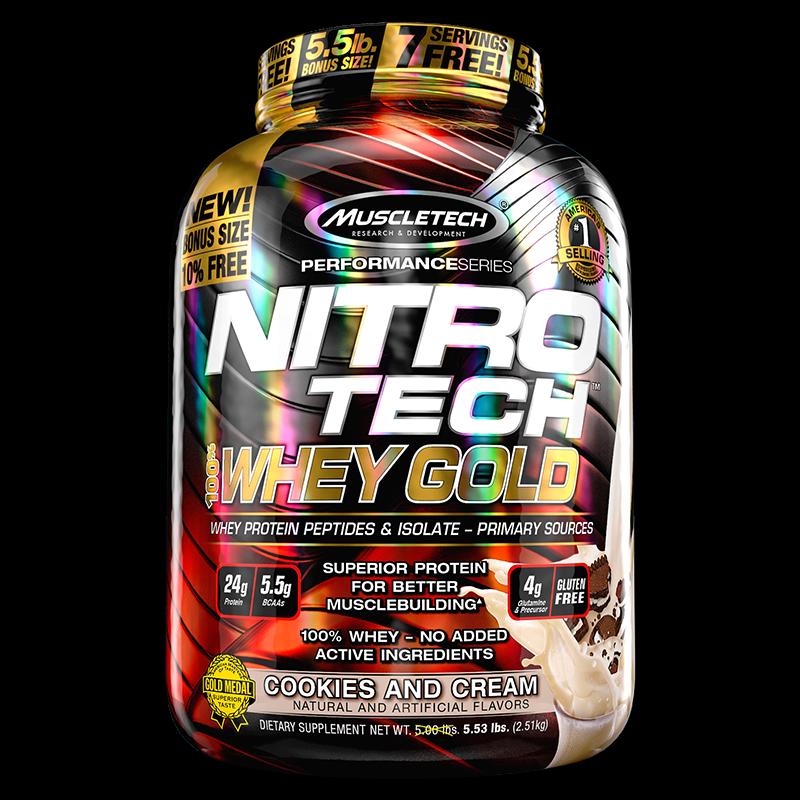 NitroTech 100% Whey Gold Isolate (907g) MuscleTech-Baunilha