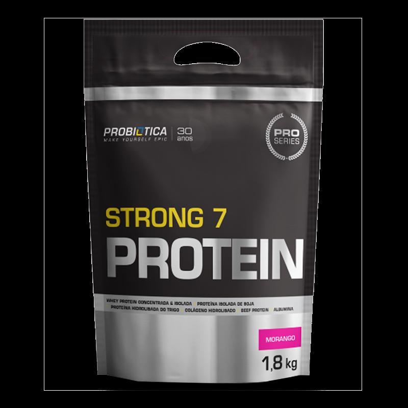 Strong 7 Protein (1800g) Probiótica-Morango