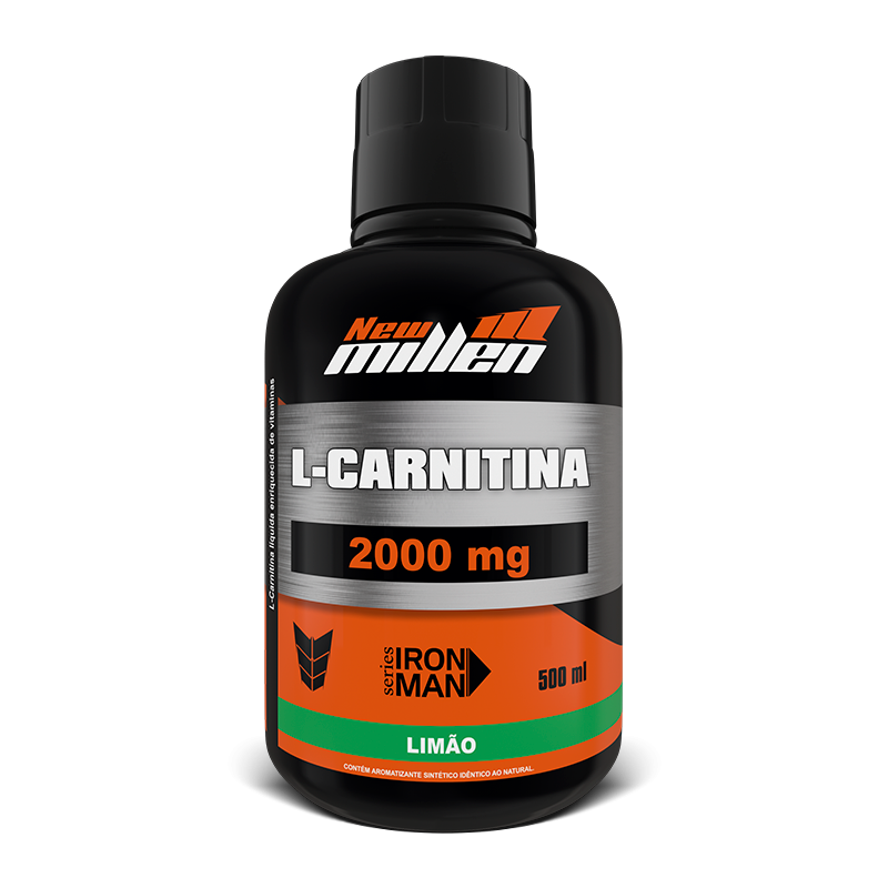 L- Carnitina 2000 (500ml) New Millen-Frutas Vermelhas