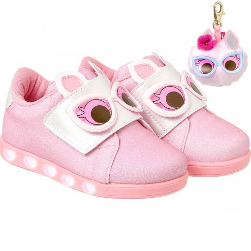 Tênis Infantil Pampili Sneaker Dot's Com Luzinha