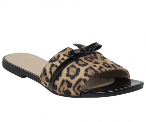 Chinelo Slide Via Marte Leopardo Feminino 19-9803